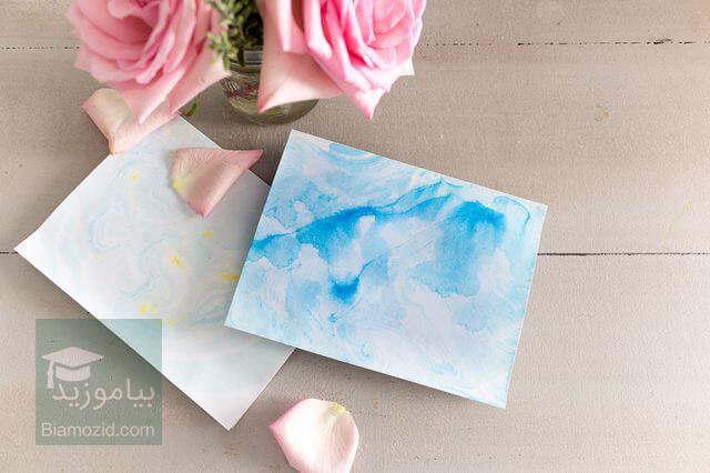 تصویر از چگونه یک کارت تبریک ابر و باد بسازیم