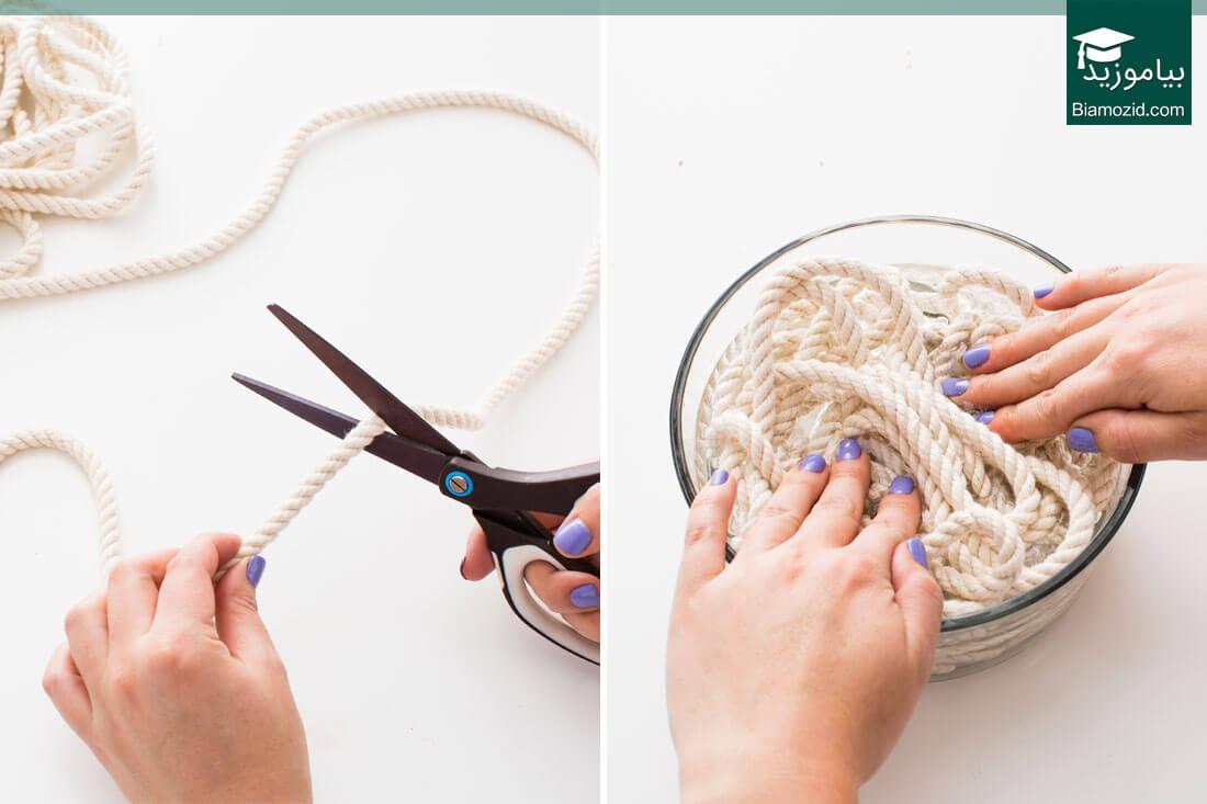 کاسه طنابی | برش