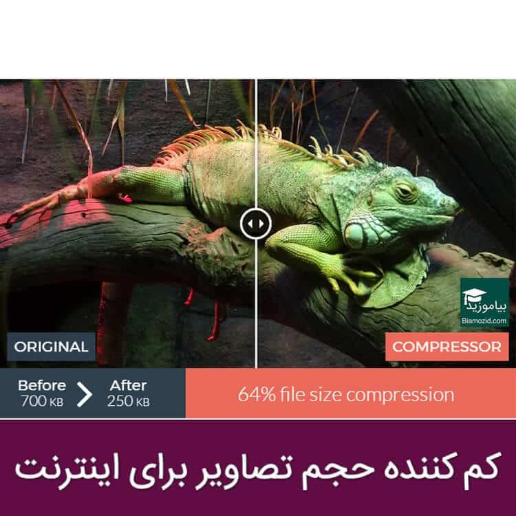 تصویر از فشرده سازی تصاویر بصورت آنلاین تا ۹۰%